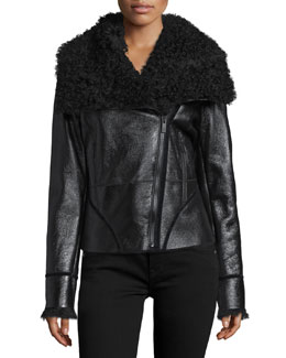 Ophelia Fur-Collar Coat