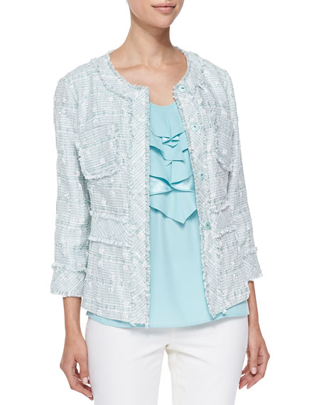 Lafayette 148 New York Reagan Tweed Jacket, Blyss