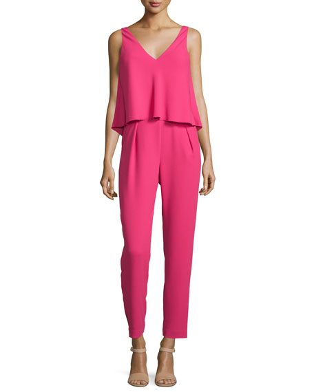 Trina Turk Sleeveless V-Neck Popover Jumpsuit