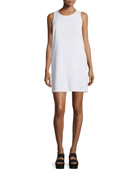 Rag & Bone Evie Honeycomb Shift Dress, White
