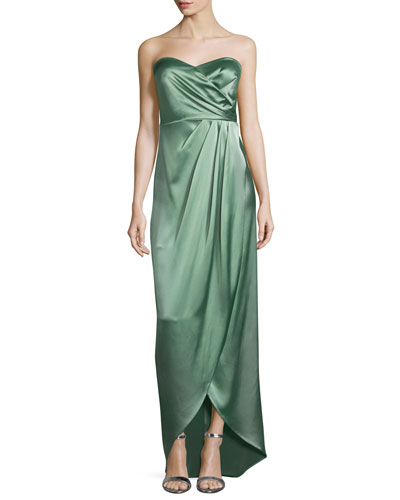 Valerie Strapless Ruched Column Gown