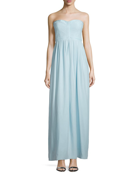 Parker Bayou Strapless Sweetheart Gown, Mist