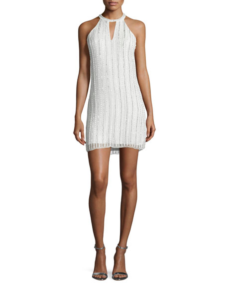 Sansa Halter Beaded Dress, White