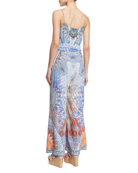 Embellished Wide-Leg Jumpsuit, Realm