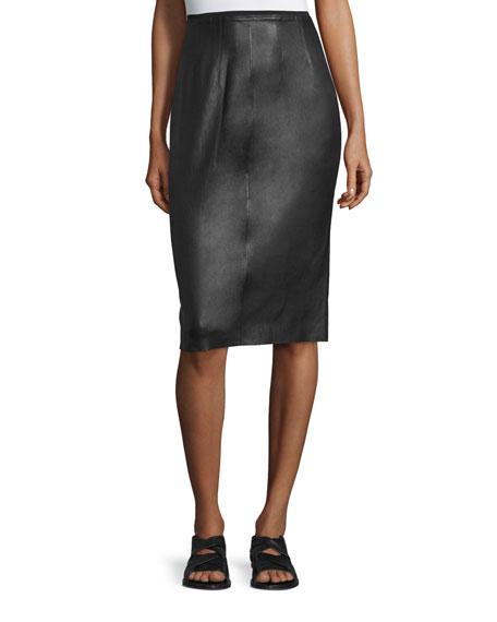 Rag & Bone Phoebe Lamb Leather Pencil Skirt,