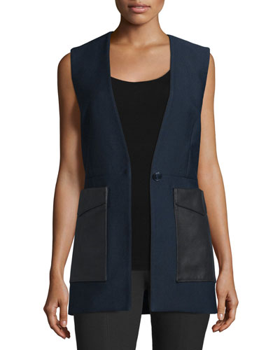 Fleet Cotton-Blend Vest, Salute