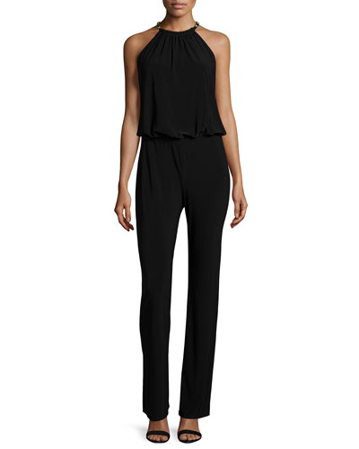 Laundry by Shelli Segal Sleeveless Blouson Jumpsuit. Black