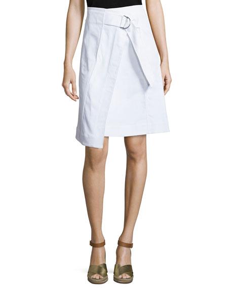 Tory Burch Denise Faux-Wrap Denim Skirt