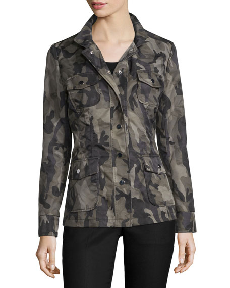 Jane PostLong-Sleeve Camo-Print Jacket