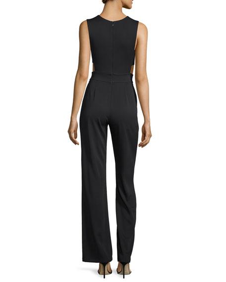 Last Sleeveless Jumpsuit W/Cutouts, Black