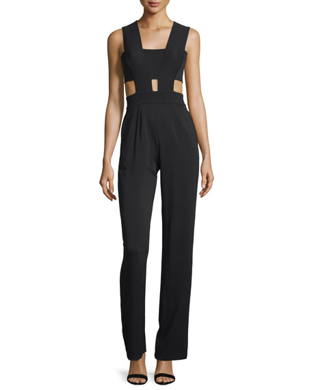 Last Sleeveless Jumpsuit W/Cutouts, Black