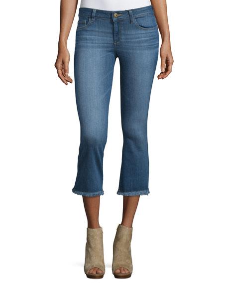 DL 1961 Premium Denim Lara Flare-Leg Cropped Jeans,