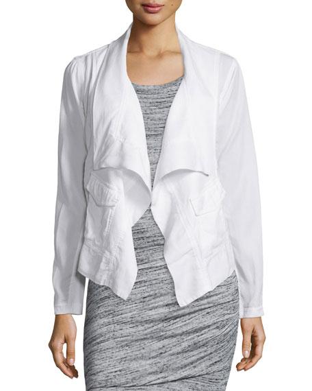 Splendid Canyondale Mixed-Media Jacket, White