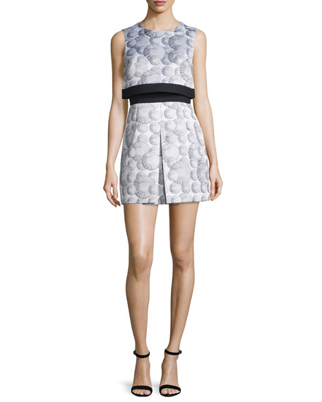 Cynthia Rowley Sleeveless Printed Popover Dress, White