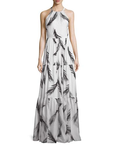 Maeve Sleeveless Tiered Maxi Dress