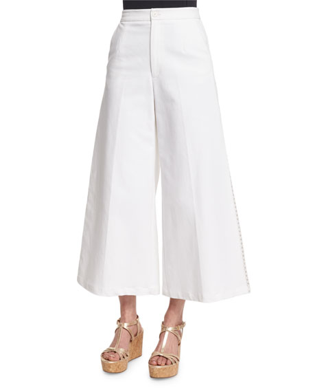 Nanette Lepore Wide-Leg Crisscross Trousers