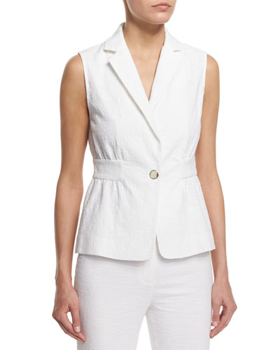 Gavyn Textured Vest, White