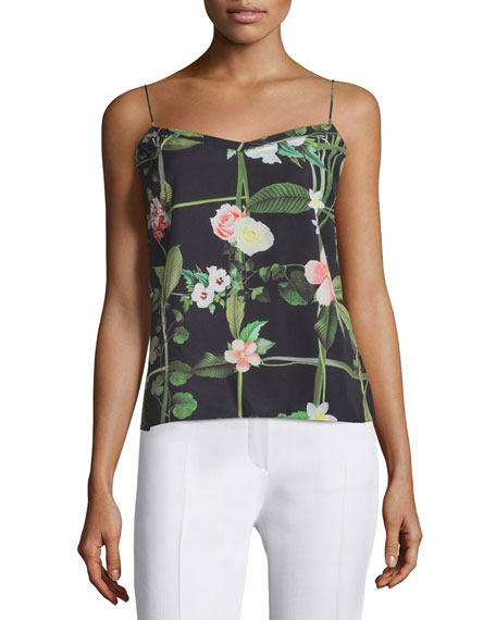 Ted Baker London Cynaria Secret Trellis-Print Camisole, Black