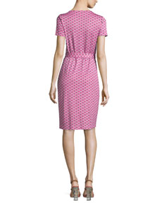 137ec463fb4 Diane von Furstenberg New Julian Two Peace Palm Wrap Dress, Pink | Neiman  Marcus