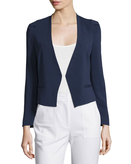 Rebecca Taylor Refined Stretch Suit Jacket, Navy
