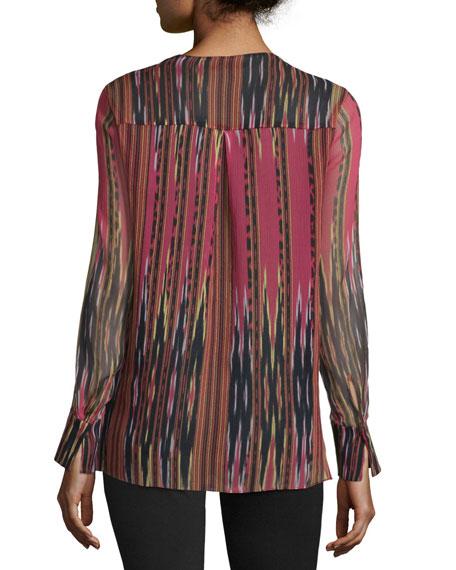 Adeline Long-Sleeve Printed Blouse