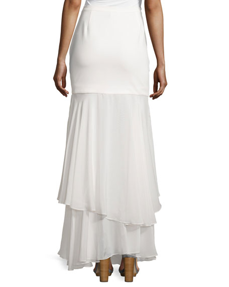 Tiered Maxi Skirt, Swan
