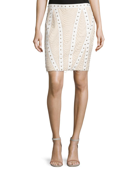 Embellished Pencil Skirt, Fallen Angel