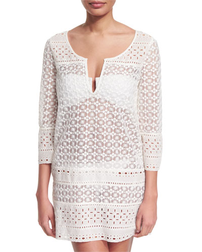 Montauk Crocheted Tunic Coverup