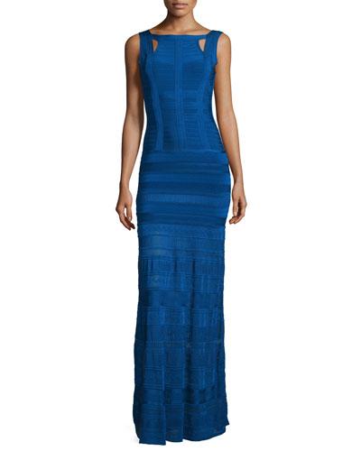 Bandage Gown W/Crochet Skirt, Blue Sapphire