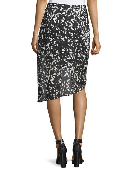 Mid-Rise Asymmetric Skirt, Black/Swan