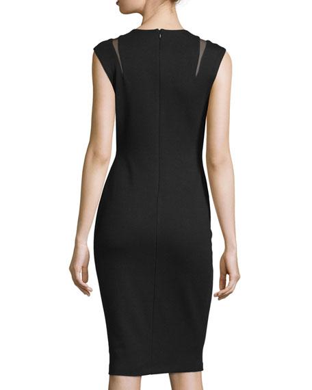 Desert Willow Sleeveless Sheath Dress, Black