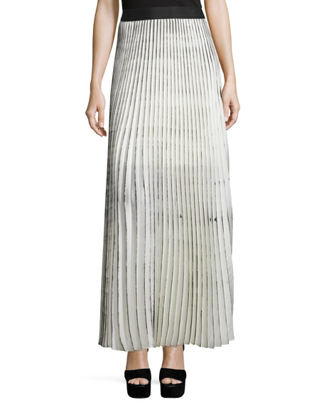 Bailey 44 Woolly Amsonia Plisse Maxi Skirt, Cream