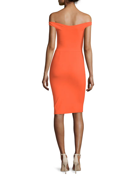 Aliroska Off-the-Shoulder Sheath Cocktail Dress