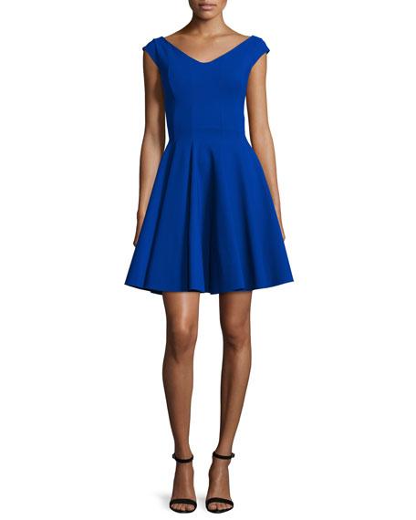 La Petite Robe di Chiara Boni Amethys Cap-Sleeve Fit & Flare Dress ...