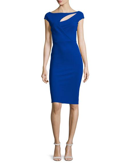 La Petite Robe di Chiara Boni Jobeth Cap-Sleeve Yoke-Cutout Ruched Dress, ...