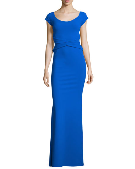 La Petite Robe di Chiara Boni Renella Off-the-Shoulder V-Neck Mermaid Gown, ...