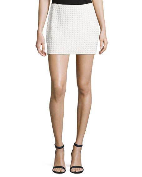 Haute HippieEmbellished Mini Skirt, Swan
