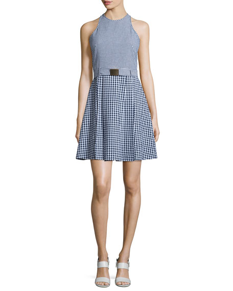 MICHAEL Michael Kors Sleeveless Gingham Seersucker Dress