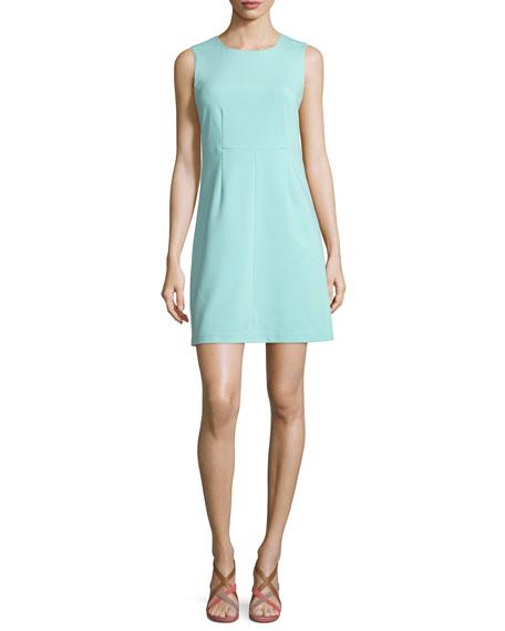 Diane von Furstenberg Sleeveless Carrie A-Line Dress, Aquamarine