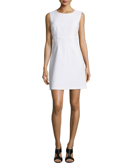 Diane von Furstenberg Sleeveless Carrie A-Line Dress, White