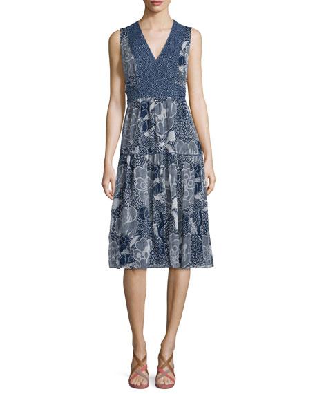 Diane von Furstenberg Vanya Dream Dot A-Line Dress, Midnight