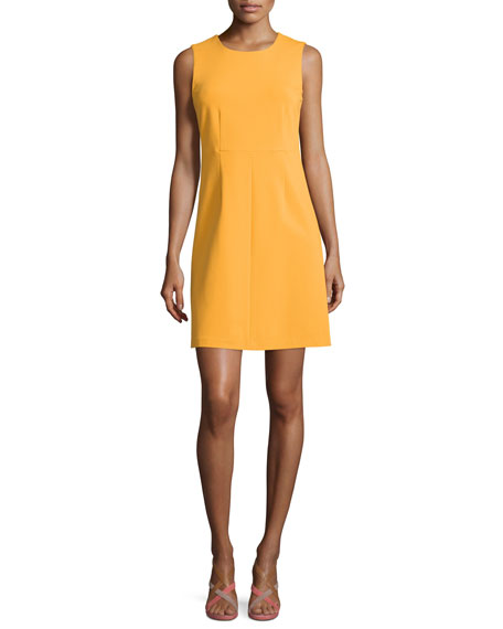 Diane von Furstenberg Sleeveless Carrie A-Line Dress, Saffron