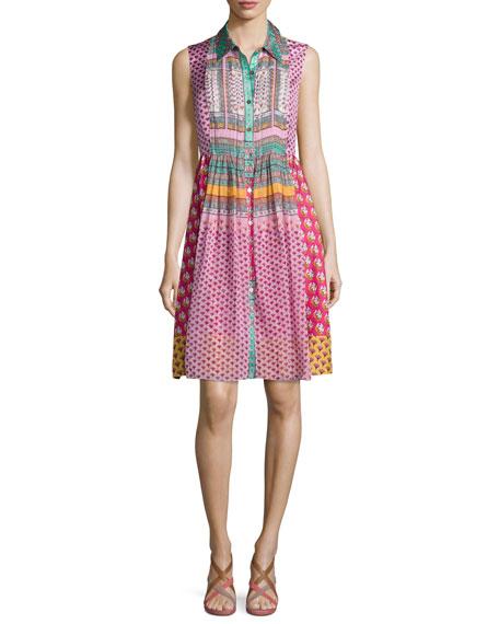 Diane von Furstenberg Nieves Zen Scarf A-Line Dress,