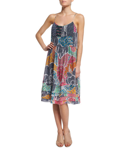 Franny Flower Power Dream Shift Dress, Multicolor