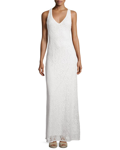 Lilly Pulitzer Aster Knit Lace Racerback Maxi Dress,
