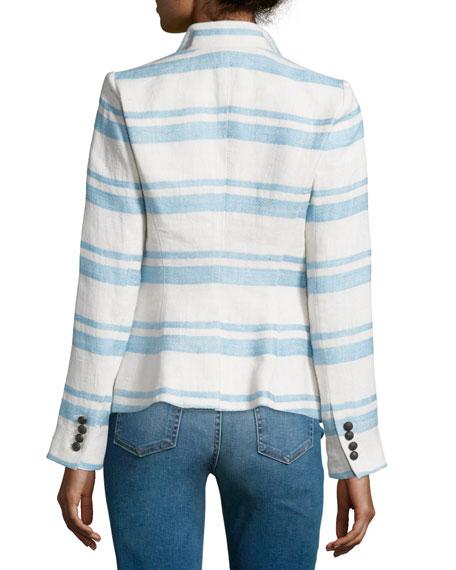 Crossover Two-Button Blazer, Hammock Stripe