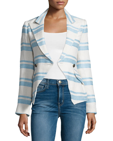 Crossover Two-Button Blazer, Hammock Stripe