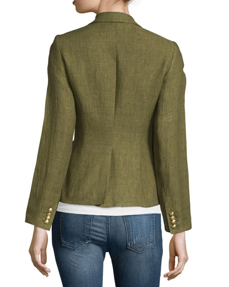 Smythe Classic One-Button Blazer, Army Green