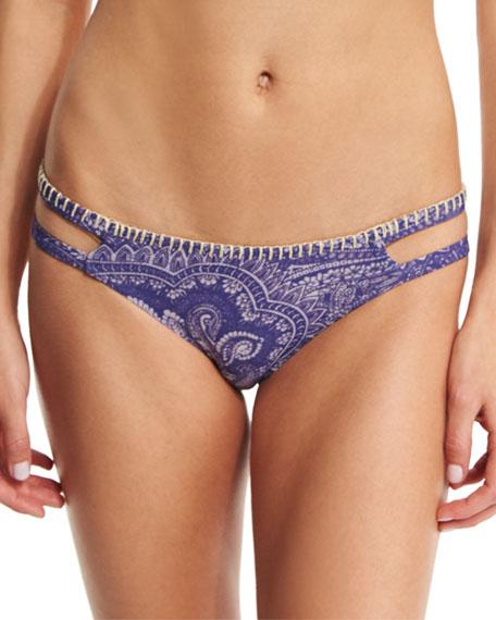 Ale by Alessandra Blanket Stitch Printed Swim Bottom,