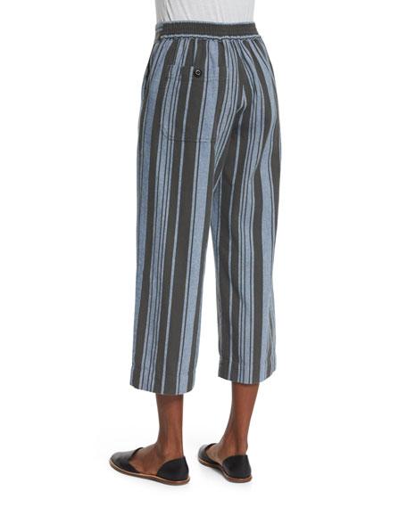 The Easy Cropped Pants, Playa Stripe